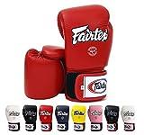 Fairtex guantes de Muay Thai BGV1,en varios colores y tamaños, Guantes para artes marciales mixtas, kick boxing, sparring, hombre mujer, rojo