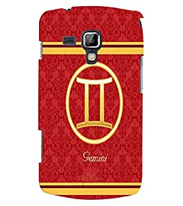 Fuson 3D Printed Sunsign Gemini Designer back case cover for Samsung Galaxy S Duos 2 S7582 - D4396