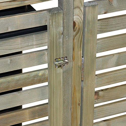 Bentley Garden – Tannenholz – Für 2 Tonnen – Für den Außenbereich - 4