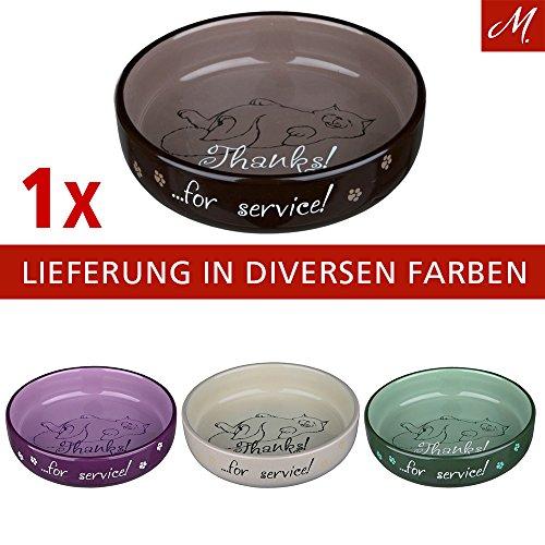 Katzennapf für kurznasige Rassen, Keramik, 0,3 l/ø 15 cm