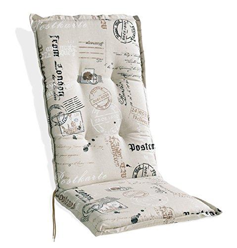 Sesselauflage Sitzpolster Gartenstuhlauflage für Hochlehner STAMPS 1 | 48x120 cm |...