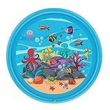 happygirr Splash Pad, 68 Zoll Sprinkler und Splash Play Matte, Sommer Garten Wasserspielzeug für Baby, Kinder, Hund und Haustiere