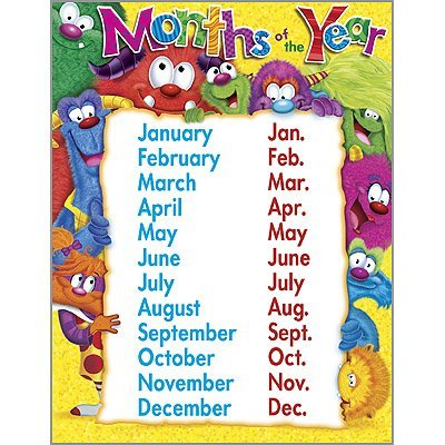 Months of the Year - Furry Friends / Monsters School