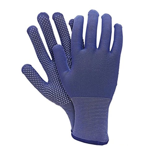12x Arbeitshandschuhe mit MICRO-DOT Noppen Größe 7 Noppenhandschuhe Sicherheitshandschuhe Schutzhandschuhe Strickhandschuhe 0,62?/Stk. - 7 Dot