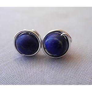 Ohrstecker aus dem Edelstein Lapis Lazuli- versilbert