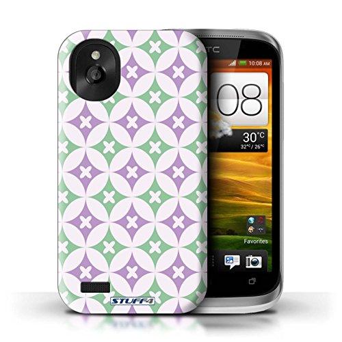 Kobalt® Imprimé Etui / Coque pour HTC Desire X / Rose/Bleue conception / Série Kaléidoscope Violet / Vert