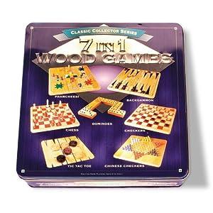 Pressman Toy International 7en 1Madera Juego Centro