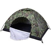 Fastar, tenda da campeggio, pieghevole, portatile, impermeabile, antivento, per attività all'aria aperta, con singolo strato, per escursionismo, arrampicata, pesca, B:2 persons