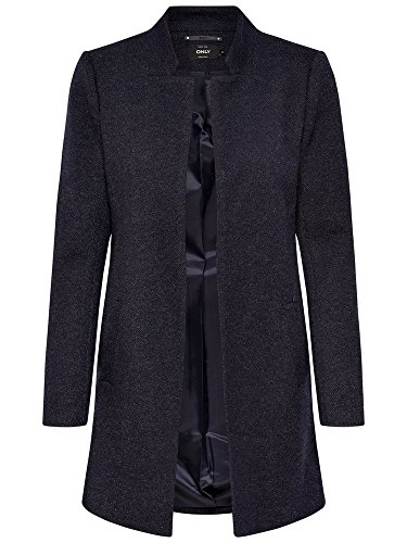ONLY Damen Mantel Jacke SOHO LIGHT MELANGE COATIGAN Trenchcoat Übergang (XL, blau (Night Sky)) (Blaue Mäntel Kurze)