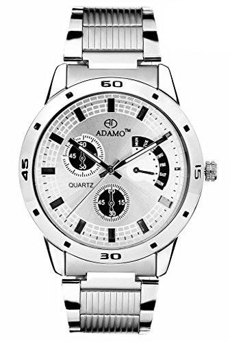 Adamo analog White Dial Men's Watch (AD109)