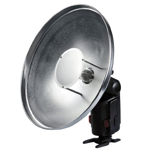 Interfit Fotografien str207 Strobies pro-Flash Beauty Dish mit Wabenraster (Silber) Interfit-flash