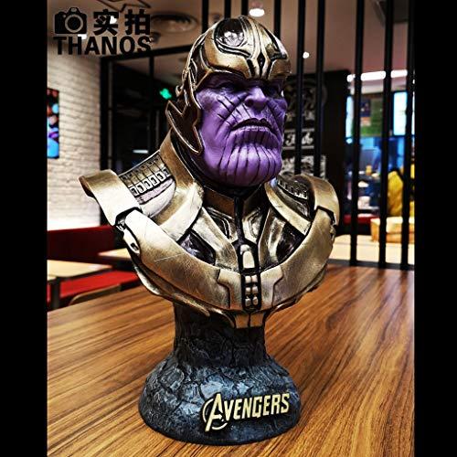 JERPOZ Thanos Grande Modello di Scultura del Torace Modello di Film di Alta 36 Centimetri Modello/Personaggio Film Eroe Infinito Guerra circostante/Modello Decorazione Resina Statua Regalo Scatola