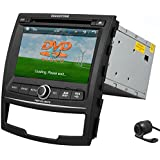 HD Pupug 7 Inch Car RDS DVD GPS Navigation Radio Video Bluetooth Multi-Media Stereo FOR Ssangyong Korando 2010 2013 VCD Camera Accessory Double 2 DIN BT Player Automotive Player VCD