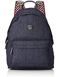 Tommy Hilfiger - Poppy Backpack Denim, Mochilas Mujer, Blau (Denim), 13x40x30 cm (W x H D)