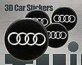 3D Aufkleber 4 Stk. Audi Logo Imitation Alle Größen Mittelkappen Radkappen (60 mm)
