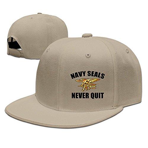 hittings-us-navy-seals-never-quit-adjustable-caps-flat-brim-hats-bisbol-natural