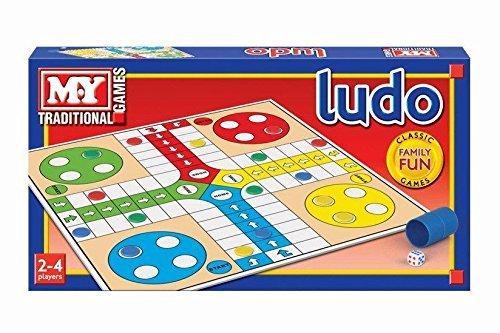 MY Meine TRADITIONELLE FAMILIENBOARD-Spiel-Ludo-Party-Spass-Spiel-Set-Kinder Kind (Kinder Für Spaß-party-spiele)