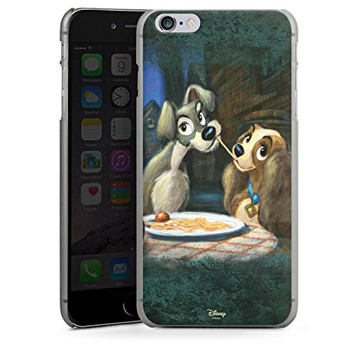 Apple iPhone 6 Silikon Hülle Case Schutzhülle Disney Susi & Strolch Fanartikel Merchandise Hard Case anthrazit-klar