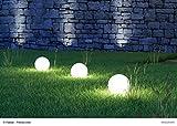 3er Set 30,40,50 cm Kugel Leuchten Garten Kugel mit LED Beleuchtung und Zuleitung - wunderschöne hochwertige Außenbeleuchtung als 3er Set Außenbeleuchtung - wetterfeste Kugel mit je 10 LEDs für strahlende Akzente, auch als Wegeleuchte perfekt geeignet