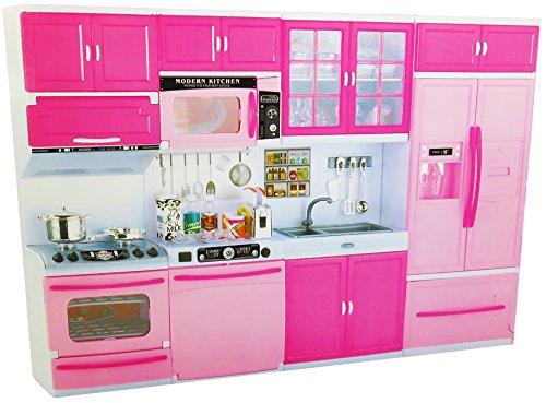 Puppenküche mit Zubehör / Spielküche mit Accessoires - Puppe Küche