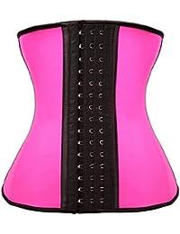 FeelinGirl Women's Latex 9 Steel Boned Breathable Waist Training Corset Cincher