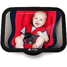 Espejo Hacia Asiento Posterior para Bebés, Espejo Retrovisor Inastillable para ver al Niño/Bebé en Asiento Infantil, espejo de Seguridad, Fácil Instalación, Efecto Antitemblor, Ajuste universal