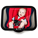 Specchio Retrovisore Posto Bimbi - Specchio Retrovisore Auto Infrangibile per vedere Bambini/Neonati nel Seggiolone, Specchio di Sicurezza, Istallazione Semplice, Effetto Anti-Oscillazione, Universale