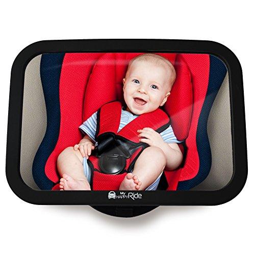 Rücksitzspiegel fürs Baby, Bruchsicherer Auto-Rückspiegel für Babyschale, Autositz-Spiegel ohne Einzelteile, für Kinder in Kinderschale, Kindersitz, Babysitz, Reboarder in universeller Passform