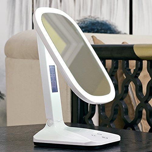 Morct Spiegel Tischleuchte LED-Spiegel Kommode multifunktionalen High-Definition. ein- und ausklappbarer Spiegel, weiße Band 3C Adaptermodern und Einfach, komfortabel und langlebig Home, Schöne und dreckig