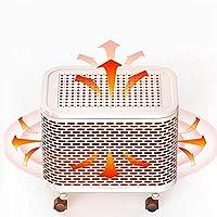 ZBJJ Mini Mute Calentador de Ventilador a Prueba de Agua Dispositivo de calefacción de cerámica Calentador de protección contra sobrecalentamiento y volcado Estufa para Oficina en el hogar 2000W FM01