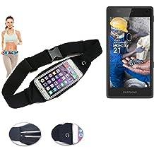 Cinturón de bandolera bolso de la cintura bolsa para Fairphone Fairphone 2, negro. Aptitud del deporte de la cubierta a prueba de lluvia Ejercicio corriente - K-S-Trade (TM)