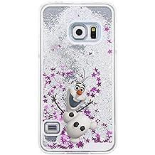 Phone Kandy® Duro transparente caja del teléfono de Shell del brillo de la chispa Stars con la historieta (Samsung Galaxy S6 Edge, Olaf)