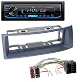 caraudio24 JVC KD-X351BT AUX USB Bluetooth MP3 Autoradio für Renault Scenic Megane (bis 03) grau