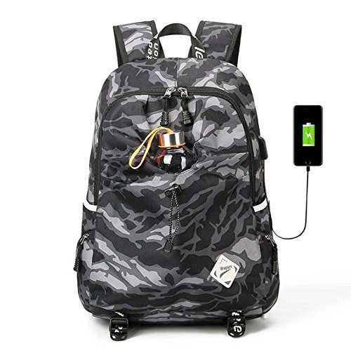 Preisvergleich Produktbild Leaper Mens frauen Leichte Laptop mit Usb-ladeanschluss Wasserdicht Rucksäcke für Reise Wandern Camping Badminton Satchel Rucksack Schultasche