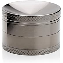 ATA® Premium Grinder de aluminio con tamiz y tapa magnética para hierbas secas y tabaco | De alta calidad - 4 piezas grandes 2,48 pulgadas (63 mm)