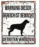 D&D 695-433171 Homecollection Warning Sign Quadratisch Rottweiler, weiß
