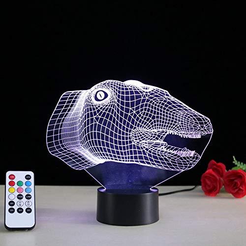 Nachtlicht 3D Optical Illusion Lampe Kinderzimmer Schlafzimmer Dinosaurier Tiermodellierung