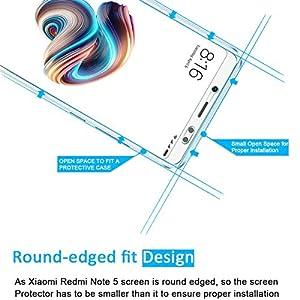 NEW'C 2 Unidades, Protector de Pantalla para Xiaomi Redmi Note 5, Vidrio Cristal Templado