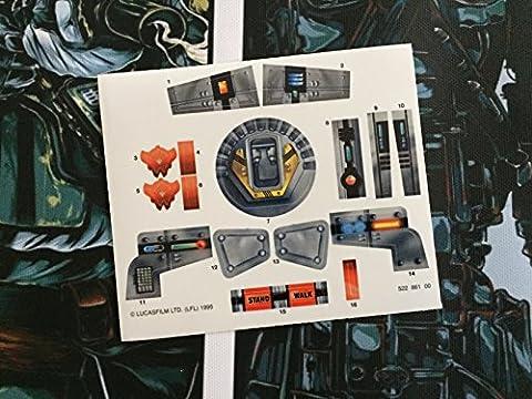 Star Wars vintage personnalisée Repro Die Cut Stickers/autocollants/étiquettes Imperial At-st (Scout Walker) 1995