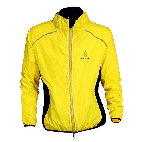 Eleoption Unisexe Softshell Fahrradtrikot langärmelig Radbekleidung für Fahrräder Mountainbiker Gelb L (Jersey Mädchen Motocross)