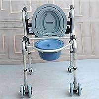 Aleación de aluminio grueso walker mayor con discapacidad con baño taburete muletas marco de tracción silla