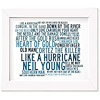 Neil Young Art Print - Anthology - Unframed Lyrics Poster