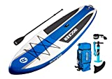 Paquete SUP de tabla de surf de remo hinchable iROCKER CRUISER, 10'6 largo, 33' ancho, 6' grueso