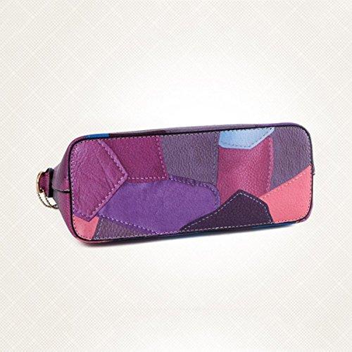 Casual Frauen Schultertasche Messenger Bag Nähen Purple