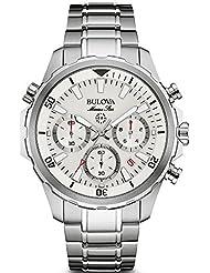 Bulova Herren-Armbanduhr Chronograph Quarz Edelstahl 96B255