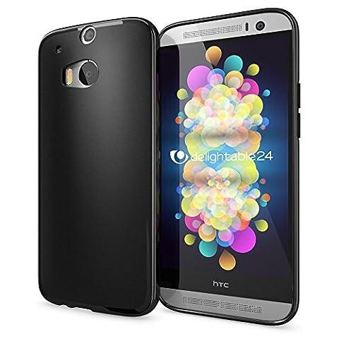 HTC One M8 M8S Hülle Handyhülle von NICA, Ultra-Slim Silikon Case Cover, Dünne Crystal Schutzhülle, Etui Handy-Tasche Back-Cover Bumper, TPU Gummihülle für HTC One M8S M8 Phone - Matt