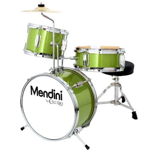 mendini-mjds-1-gn-kinderschlagzeug-komplett-set-33-cm-13-zoll-metallisch-grun