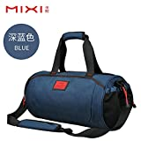 Travel Bag Tote Beutel für Sport Fitness Training Package Bag Zylinder Pauschalreisen Tasche Tasche, 46 * 23 * 23 cm, blau