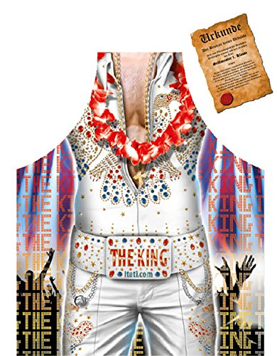 Elvis Motiv Schürze Kochschürze King of Rock : Elvis The King – Motiv Schürze + Urkunde