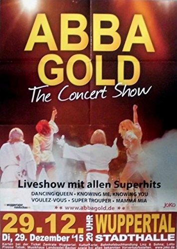 Preisvergleich Produktbild ABBA - 2015 - Konzertplakat - Gold - Concert Show - Tourposter - Wuppertal